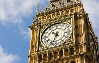 Big Ben clock tower detail