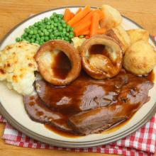 Roast beef con Yorkshire pudding